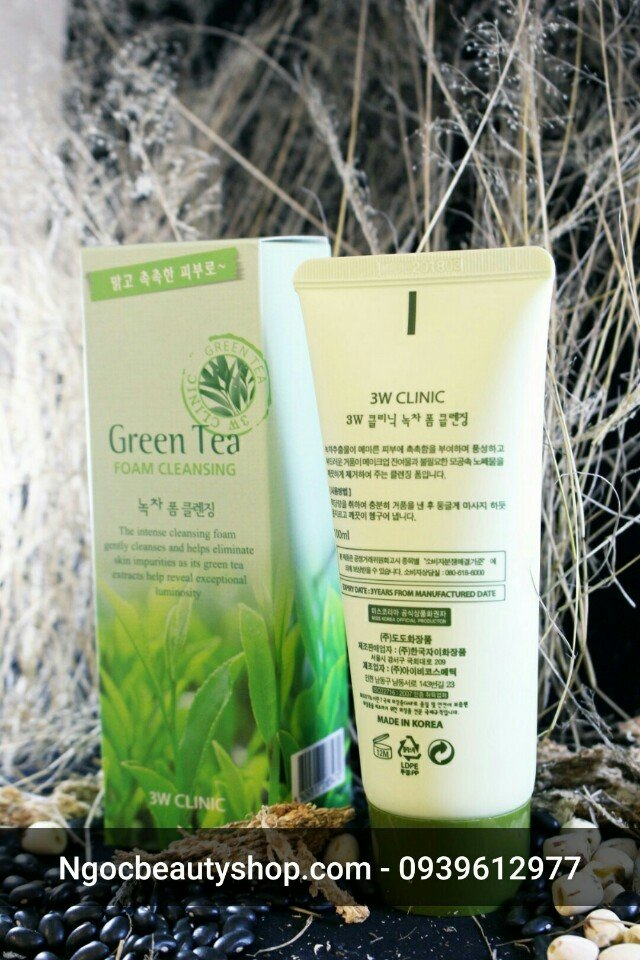 sua_rua_mat_tra_xanh_green_tea_foam_cleansing_3w_clinic_ngocbeautyshop.com_0939612977_3